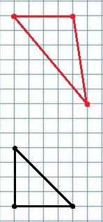 Лист в клетку с треугольниками