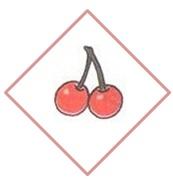 вишни в ромбе