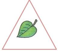 лист в треугольнике