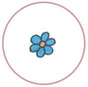 цветок в круге