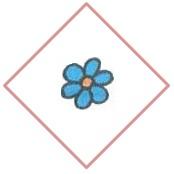 цветок в ромбе