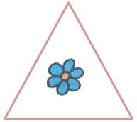 цветок в треугольнике