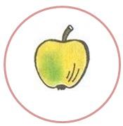 яблоко в круге