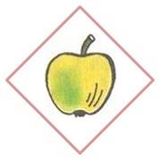 яблоко в ромбе