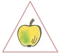 яблоко в треугольнике
