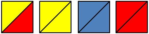 Четыре квадрата из треугольников