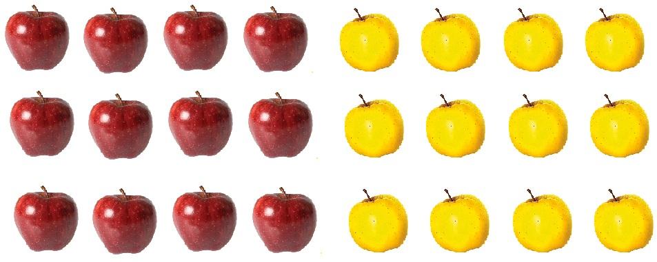Красные и жёлтые яблоки к заданию на стр. 6 учебник математика 3 класс 2 часть Моро