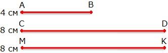Три отрезка к заданию 113 стр. 43 рабочая тетрадь № 1 по математике 3 класс