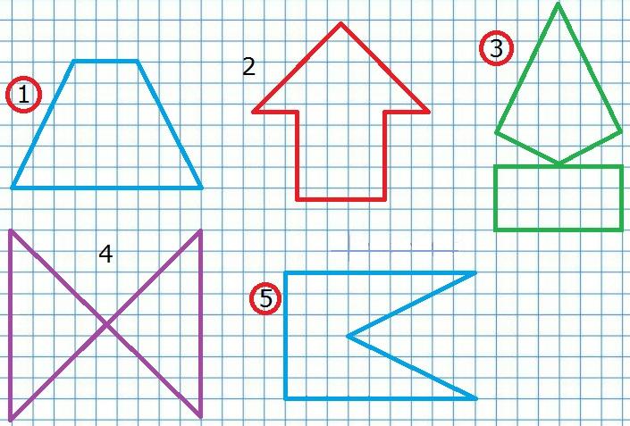 Фигуры к заданию 7 стр. 71 учебник 1 часть математика Моро